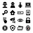 ID_106284693 - Dark Deep Internet and Security Icons Set. Vector